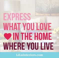 What YOU love!