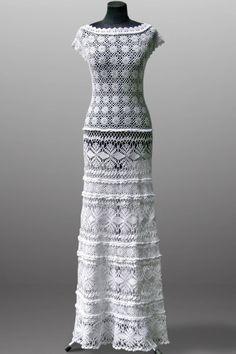 Crochet dress Daisy. Luminous white wedding or от TsarevaCrochet