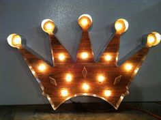 Crown light for British or Royal themed nursery.