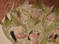 Easy Cheesey Corn and Shrimp Tamale*The picture makes them look kinda ick but they taste fantabulous!*