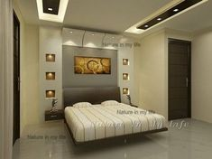 6 Healthy Cool Tricks: False Ceiling Design With Wood false ceiling design double height.False Ceiling Living Room Home false ceiling design awesome.False Ceiling Design For Salon. Bedroom False Ceiling Design, Master Bedroom Interior, Bedroom Bed Design, Bedroom Ceiling, Modern Bedroom Design, Home Interior, Interior Design, Master Bedrooms, False Ceiling Living Room