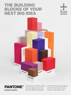 The firm Base Design does identity work for a new line by Pantone called the Plus Series. Poster work.