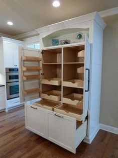 If you are looking for Kitchen Pantry Design Ideas, You come to the right place. Below are the Kitchen Pantry Design Ideas. This post about Kitchen Pantry Desi. Stand Alone Kitchen Pantry, Kitchen Pantry Design, Kitchen Pantry Cabinets, Kitchen Tops, New Kitchen, Kitchen Ideas, Kitchen Organization, Awesome Kitchen, Small Kitchen Pantry