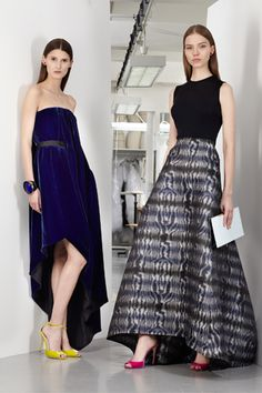 Dior Pre-Fall 2013, dress on the left!