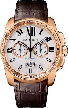 #Cartier Calibre De Cartier #Chronograph  Pink (Rose) Gold #Watch