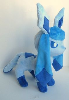 Glaceon plush by *FollyLolly on deviantART