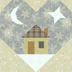 Heart and Home Paper Pieced Block  Craftsy
