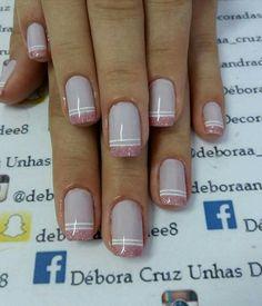 Débora Cruz Design de unhas... KJ... Fun Nails, Nail Designs, Nail Polish, Nail Art, Nail Design, Nail Arts, Feminine Style, Beauty, Polish Nails