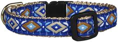 Up Country Aztec Blue Cat Collar - Size 12 *** Read more reviews of the product by visiting the link on the image. (This is an affiliate link and I receive a commission for the sales)