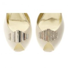 Lucianne by Freya Rose Sterling Silver Mother of Pearl Crystral Vintage Art Deco Designer Couture Shoe Clips
