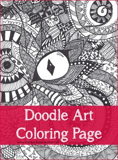 fun doodle art coloring page printable - call them doodles or Zentangles - they are fun to color!