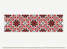 Circul Magic Shop: Inspiratia zilei: modele de cusaturi populare romanesti Types Of Embroidery, Cross Stitch Embroidery, Cross Stitch Patterns, Palestinian Embroidery, Bohemian Pattern, Bead Crochet Rope, Paper Butterflies, Bargello, Mosaic Art