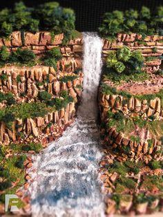 Waterfall diorama