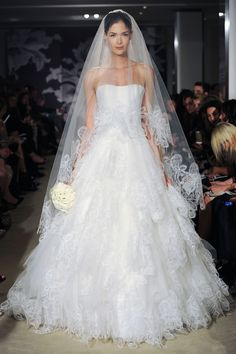 Carolina Herrera || A show-stopper of a gown - just love the volume - so romantic and fairytale wedding-ish! #weddinggowns #weddingdress