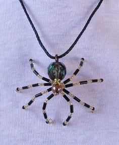Beaded Spider Pendant