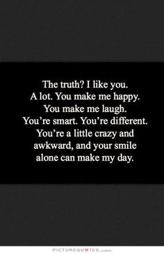 Love quotes about you make me happy inspirational quotes you make me happy quotes list of You Make Me Happy Quotes, Good Happy Quotes, You Make Me Laugh, Happy Words, Cute Quotes, You Make Me Crazy, Feeling Happy Quotes, Sad Quotes, Qoutes