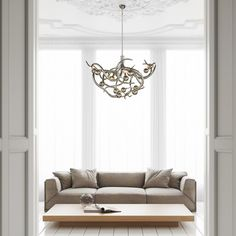 Sculptural yet gracious: our Eve chandelier is adding the definitive touch to the space. Discover the Eve collection on our website. Interior Design Shows, Design Blogs, Interior Design Studio, Custom Lighting, Modern Lighting, Lighting Design, Contemporary Chandelier, Contemporary Design, Handmade Chandelier