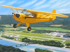 My solo bird... the J3 Cub (C85). Obviously will always be beautiful to me.