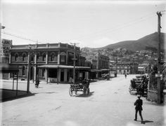 COURTENAY PLACE, 1911-1912 - BLAIR Street on left, Mount Victoria at end .. OWR 30 July 2015
