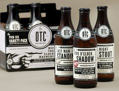 The Clock Brewing Company Off The Clock Brewing Company beer bottles designed by JJ Miller.Off The Clock Brewing Company beer bottles designed by JJ Miller. Cool Packaging, Beverage Packaging, Bottle Packaging, Packaging Design, Craft Packaging, Packaging Ideas, Beer Label Design, Beer Brands, Beer Brewing