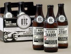 Off The Clock Brewing Company beer bottles designed by JJ Miller.