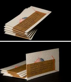 DIY Watercolor Business Cards Gallery: Plus Quick Tips on Making Your Own || DIY business cards created from scrap materials – by Ethan Martin