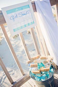 beach wedding brush sand from your feet