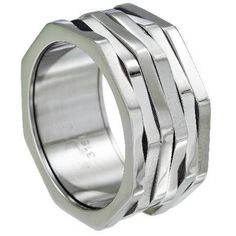 For the man who likes spinner rings, this 316L octagonal shaped ring is one to add to your collection. $28.95