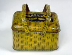 Historic lunchbox, 1880s. A tobacco box was recycled as lunch box. Harold Dorwin / SI. Smithsonian Magazine