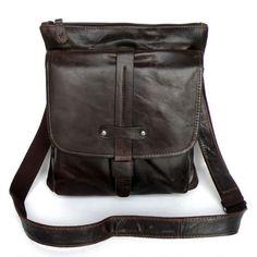 Vintage Handmade Antique Leather Messenger Bag / Ipad Satchel