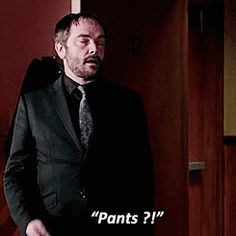 """Pants ?! Dean's face is just like """" Ugh, do I have to?"""""""