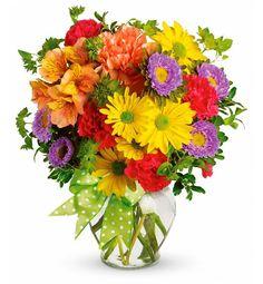Birthday Flower Arrangements   Make A Wish - Happy Birthday - Fresh Floral Arrangement