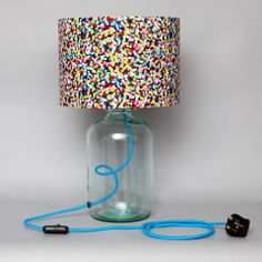 Table lamp made from a demijohn (where to source the neon cable?)  Idea from Humblesticks.co.uk