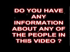 MISSING PEOPLE WORLDWIDE...AWARENESS VIDEO...PLEASE SHARE/RT...Thank You.