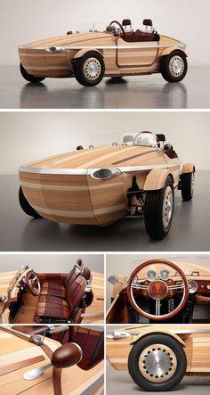 "instacarros: ""¿Un carro hecho de madera? http://bit.ly/2aERPYT """