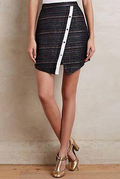Skewed Jacquard Skirt