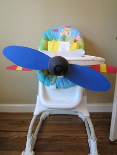 Airplane high chair UPDATE: have to use foamcore board for this, poster board will NOT work.