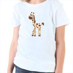 Camiseta infantil Jirafa en la selva