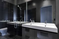 Charming Design Modern Elegant Bathroom Along With Shower Rom Also Mirror