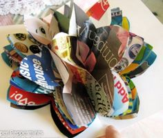 3D Magazine Paper Flowers | AllFreeHolidayCrafts.com