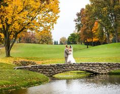 Firestone has so many good spots to use with photos. I had a hard time trying to only pick a few. #golfcourse #fallleaves #ohio #weddingday #bride #bridesmaids #bridalparty #theknot #weddingwire #canon #canonphotography #canon5dmarkiii #5dmarkiii #50mm12 #pin #akron #ohiophotographer #brideandgroom #pond