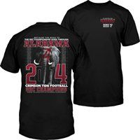 Alabama Crimson Tide 2014 SEC Football Champions Elephant in the Room T-Shirt - Black