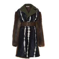 Belted Fur Coat | Moda Operandi (£6,700) ❤ liked on Polyvore featuring outerwear, coats, belted coat and fur coat