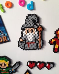 Gandalf Perler/ Hama bead Fridge Magnet por HouseOfVicness en Etsy