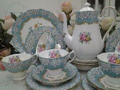 Lovely Treasures from English Garden: Royal Albert Enchantment tea set