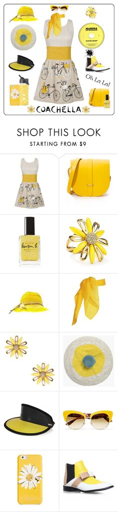 """Pack for Coachella!"" by yours-styling-best-friend ❤ liked on Polyvore featuring Danica Studio, The Cambridge Satchel Company, Lauren B. Beauty, Kate Spade, Seasalt, Fendi, Dolce&Gabbana, Lifefactory and Nicholas Kirkwood"