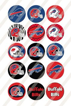 The inch digital collage sheet is in JPEG format with 300 DPI High Resolution. Colors may vary, depending on your printer. The images are 1 Buffalo Bills Memes, Buffalo Bills Football, Buffalo Trace, New Buffalo, Baby Buffalo, Nfl Logo, Team Logo, Pittsburgh Steelers, Dallas Cowboys