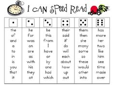 Students roll the dice then read short word list. High frequency words, spelling words, vocabulary words!