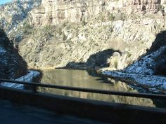 Heading West On I-70 Traveling Through The Rocky Mountain Region During A Trip To Utah. This Is A View Of The Colorado River  While Approaching Another Tunnel As Well As Crossing Over To The South Side Of The Colorado River And The Rail Road Tracks Below. This Is Some Scenery West Of The Continental Divide. This Is The Glenwood Canyon Area East Of Glenwood Springs, Colorado.  I Took This Photo With A Sony DSC-H2 Camera On November 18, 2006.