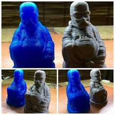 Something we liked from Instagram! Jank3D testing their new ditto print code for marlin firmware. This enables you to print two items simultaneously with a dual extruder. Buddha Vader for a test print in Transparent Blue & Grey PLA from All Professional 3D. Made in USA.  #3dprinting #3dprint #3dprinter #allpro3d #3d #jank3d #manufacturing #3dfilament #technology #custom #filament #create #fashion #nofilter #plastic #style #webstagram #instacool #instagood #instamood #engineering…